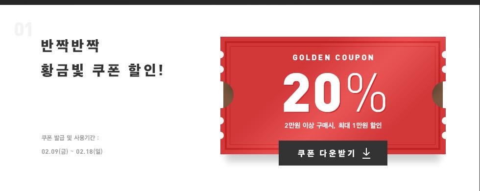 01 반짝반짝 황금빛 쿠폰 할인!