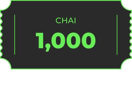 CHAI 1000원 / 2만원 이상 구매시