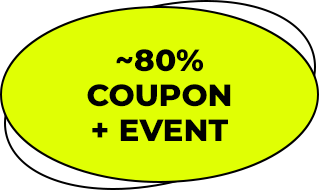 ~80% coupon + EVENT
