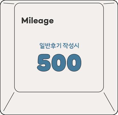 mileage / 일반후기 작성시 500